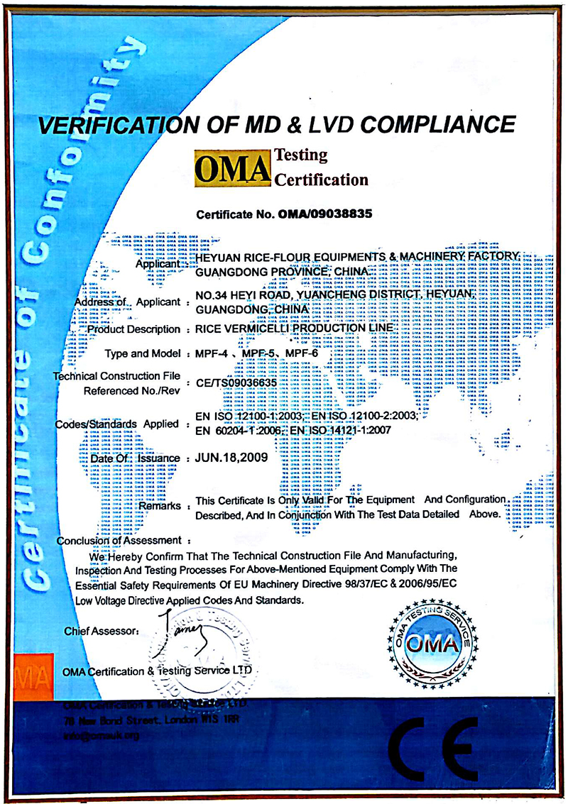 Verification of MD & LVD compliance